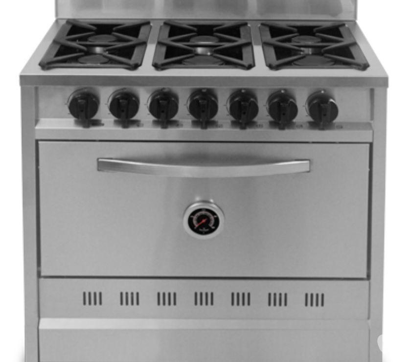 Cocina fornax industrial 6 hornallas 90 cm  Posot Class