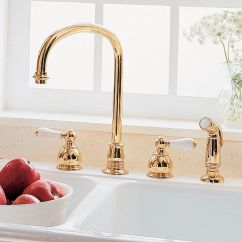 Four Hole Kitchen Faucets Pink Appliances 黄铜调温龙头 厨房 4孔 Hampton American Standards