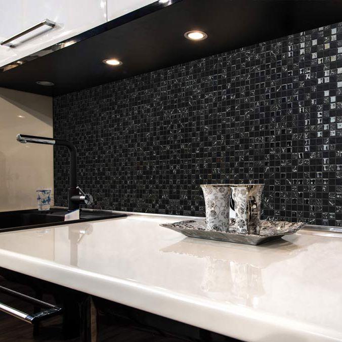 kitchen mosaic remodeling fairfax va 厨房马赛克 墙面 玻璃 图案 galaxy thor mosavit