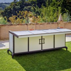 Modern Outdoor Kitchen Curtains 户外厨房 现代风格 钢 铝制 Linear Samuele Mazza By Dfn Srl 视频