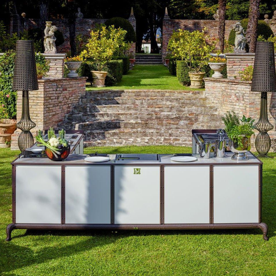 outdoor kitchen cost cabinet wholesale 户外厨房 现代风格 钢 铝制 sectional samuele mazza by dfn srl