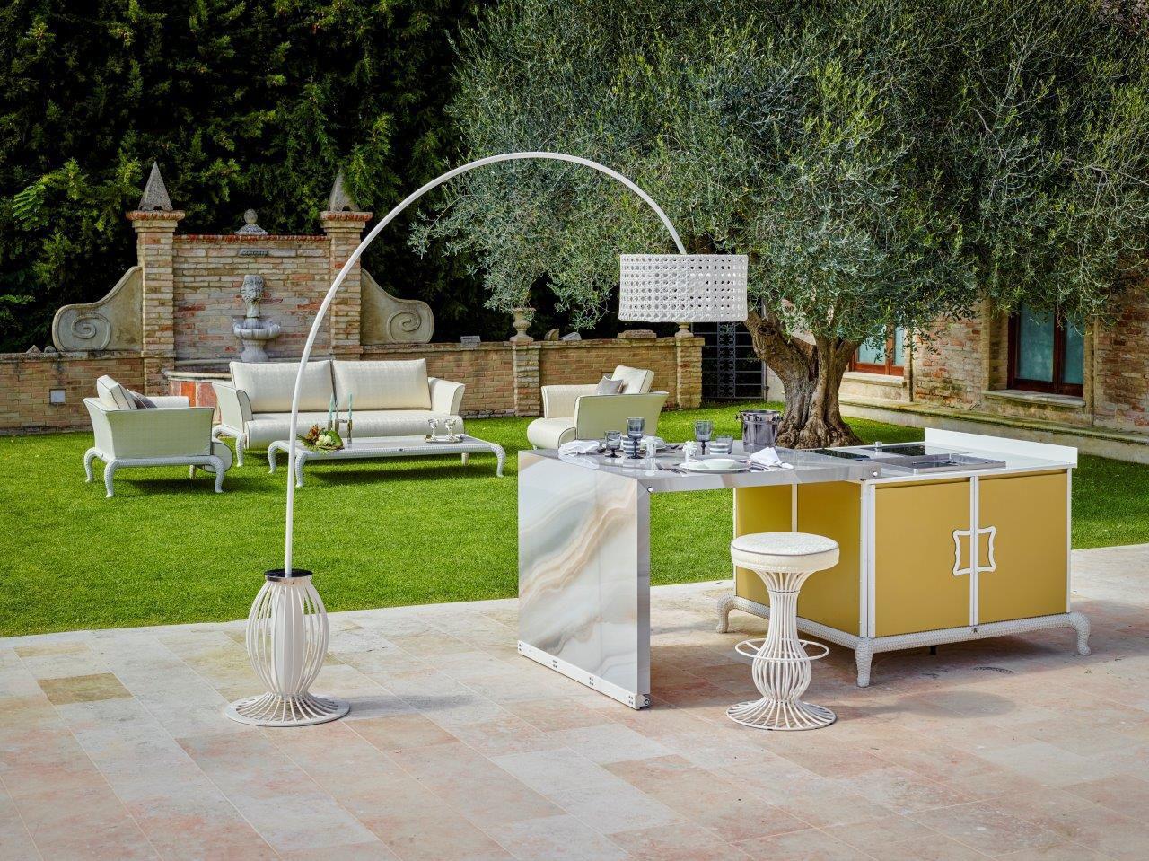 outdoor kitchen modules range 现代风格厨房 粉末涂层钢 瓷质 户外 island samuele mazza by dfn