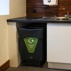 Kitchen Trash Bin Floor Options 厨房垃圾桶 再生塑料 现代风格 垃圾分类 Nexus Caddy Glasdon