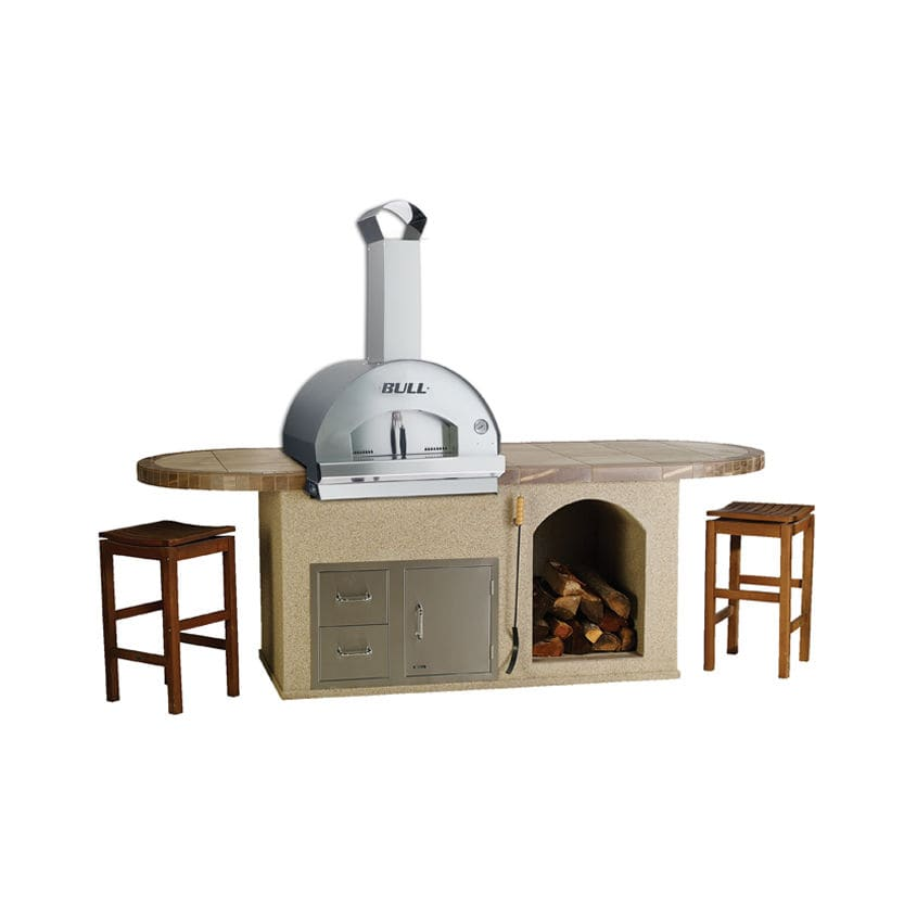 modern outdoor kitchen refinishing cabinets cost 户外厨房 现代风格 不锈钢 钢 pizza q bull europe
