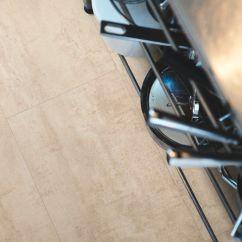 Kitchen Vinyl Floor Tiles Blinds For Window 乙烯基地面 住宅 方砖 磨砂 Cream Travertin V2120 40046 Pergo