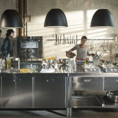Rolling Island Kitchen New Appliances 现代厨房岛台 Unit 195x320 Alpes Inox