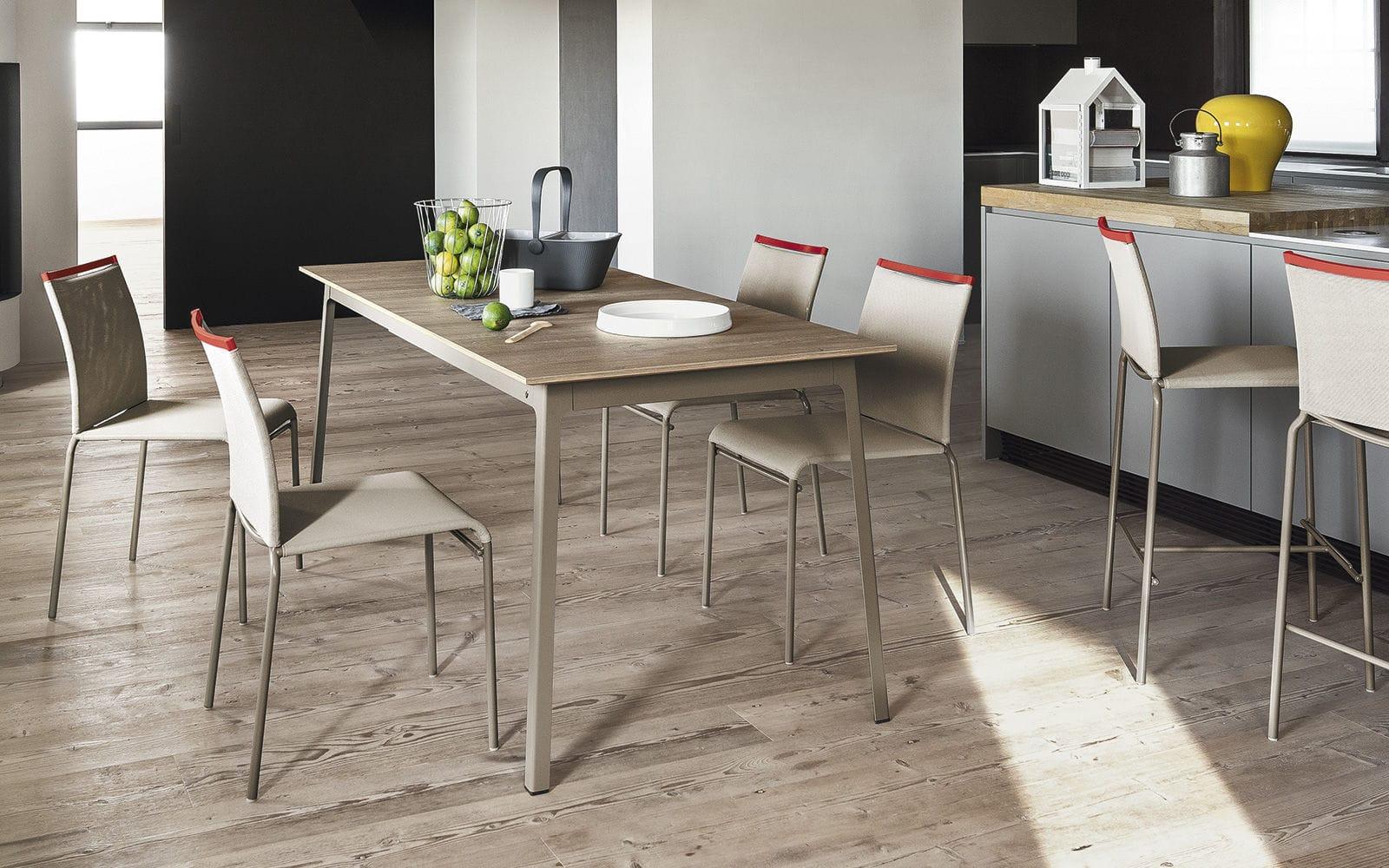 metal kitchen tables gas stoves 现代风格餐桌 木质 金属 三聚氰胺 dot by gino carollo calligaris