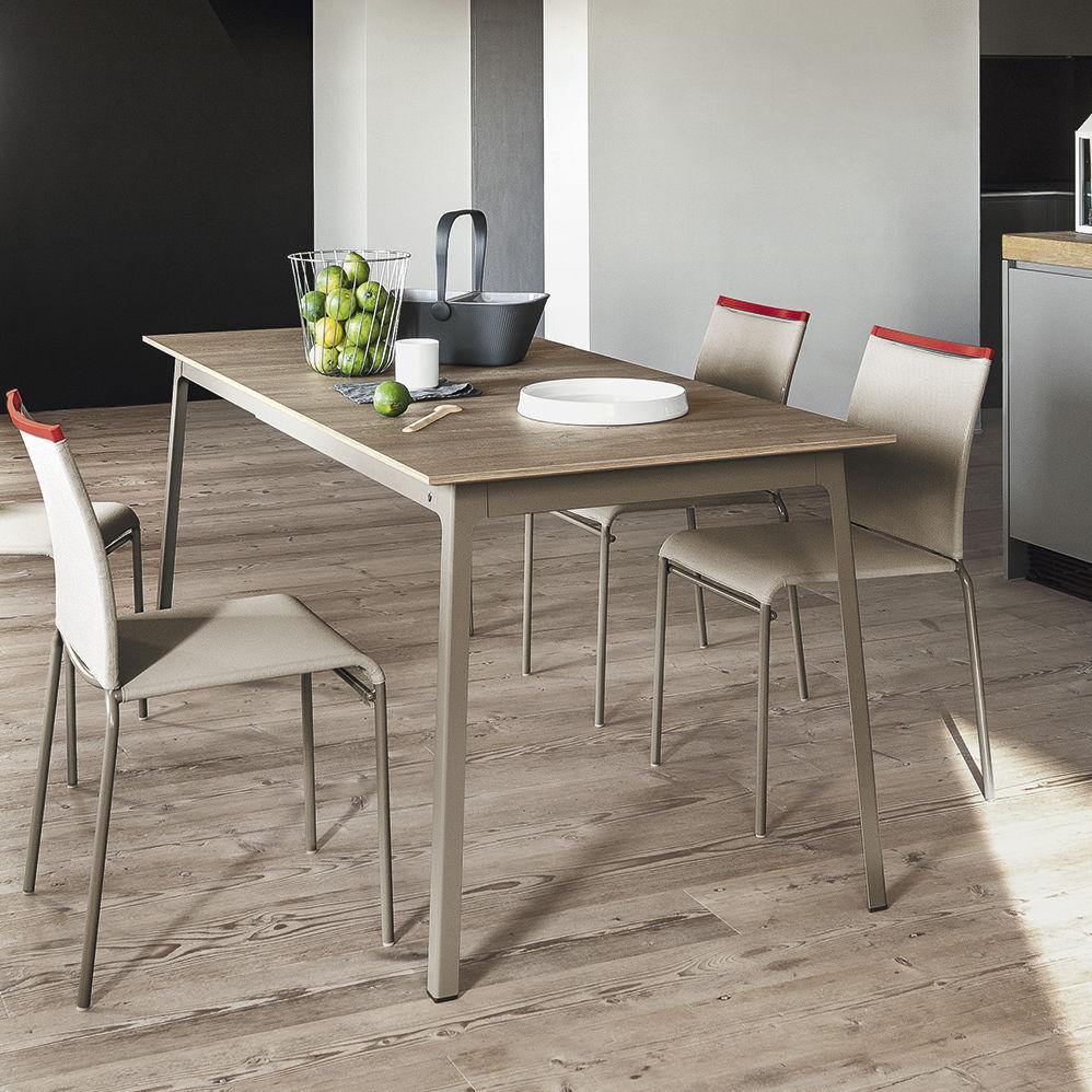 metal kitchen tables marble island 现代风格餐桌 木质 金属 三聚氰胺 dot by gino carollo calligaris
