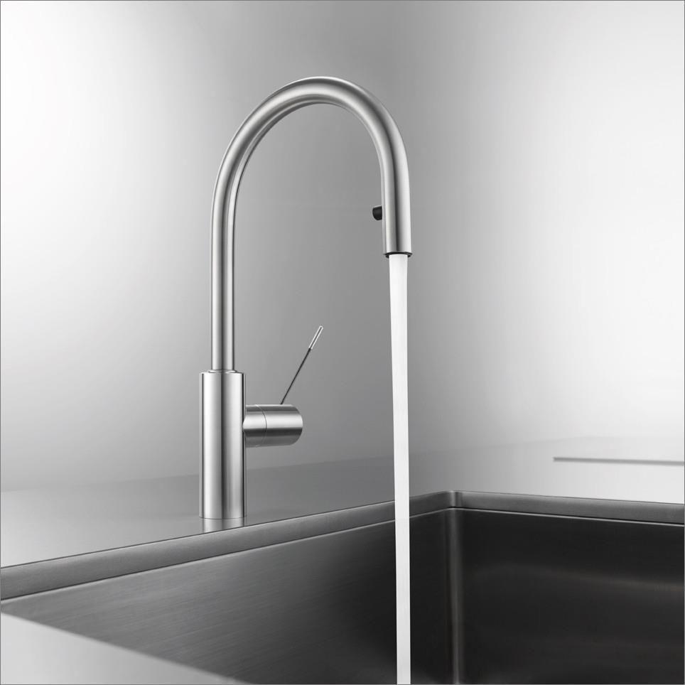 kwc kitchen faucet moen caldwell 不锈钢调温龙头 厨房 单孔 延长花洒 ono suter inox ag
