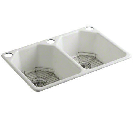 cast iron kitchen sinks kohler faucets parts 双槽厨房水槽 铸铁 深 kallista l20305 00