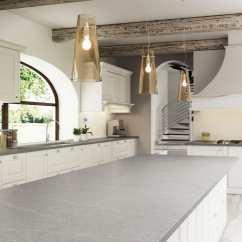 Grey Kitchen Countertops Country Style Curtains Silestone 材质厨房台面 厨房 白色 灰色 Serena Cosentino