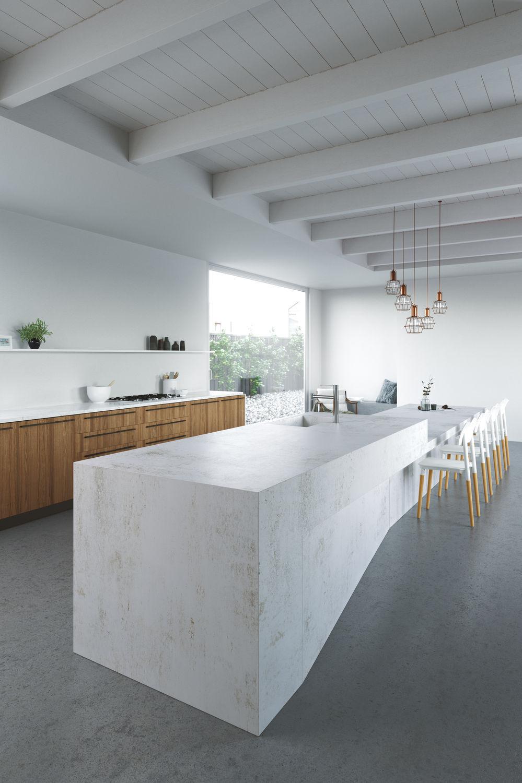 grey kitchen countertops stainless steel island cart 复合材料厨房台面 厨房 白色 灰色 nilium cosentino