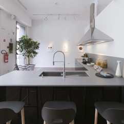 Gray Kitchen Sink Cabinet Organizers For Pots And Pans 复合材料厨房台面 厨房 灰色 Korus Cosentino