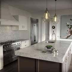 Grey Kitchen Countertops Cabinet Drawer Hardware 天然石材厨房台面 厨房 灰色 Vera Cosentino
