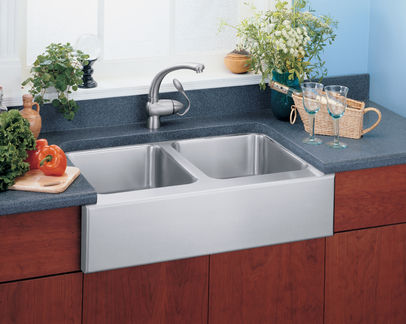 elkay kitchen sinks price pfister faucets 双槽厨房水槽 不锈钢 商用 gourmet eluhf32010