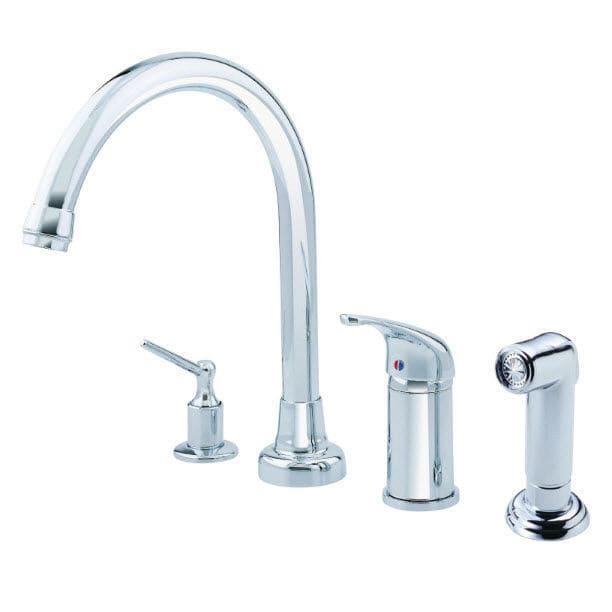 4 hole kitchen faucets custom 金属调温龙头 厨房 4孔 可旋转龙头 melrose d409112 danze 视频