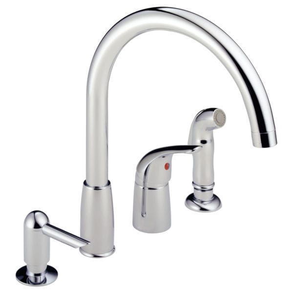 4 hole kitchen faucets redos 独立式双把混合龙头 镀铬金属 厨房 4孔 p188900lf sd peerless