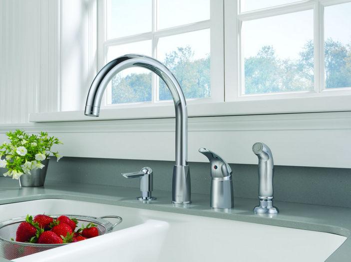 4 hole kitchen faucets exhaust vent cover 独立式双把混合龙头 镀铬金属 厨房 4孔 p188900lf sd peerless