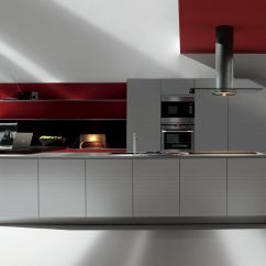 Kitchen Handles Hotel Chains With Kitchens 现代风格厨房 En Stratifie 岛台式 无把手 Artematica Multiline Ruled Aluminium By Gabriele Centazzo