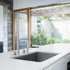 Four Hole Kitchen Faucets Modern Island With Seating 独立式双把混合龙头 金属 厨房 4孔 500mt1 590m Vola
