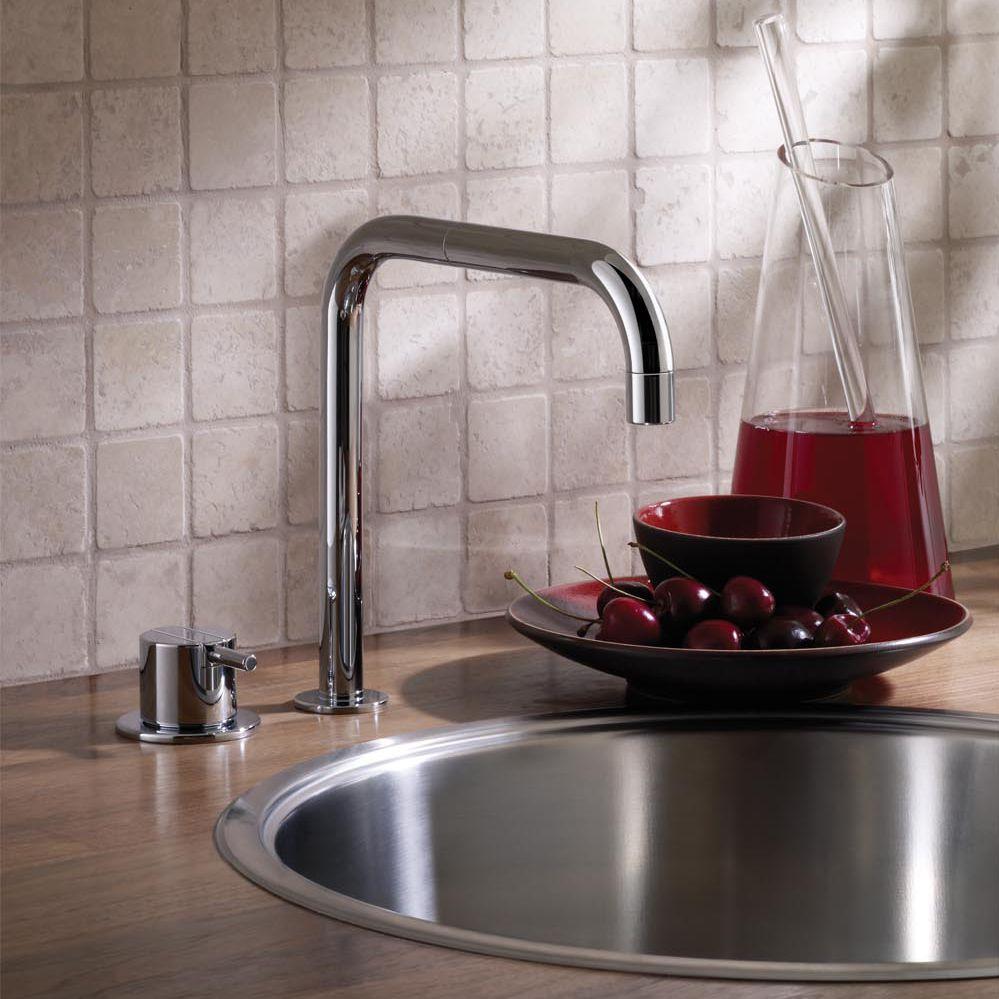 kitchen faucet spout white floor 金属调温龙头 厨房 双孔 可旋转龙头 590 vola