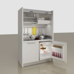 Kitchen Compact Island And Stools 木质商用厨房 紧凑型 办公室 酒店客房 Monoblock Contemporary Rolling Shutter K102 Cm 127 6
