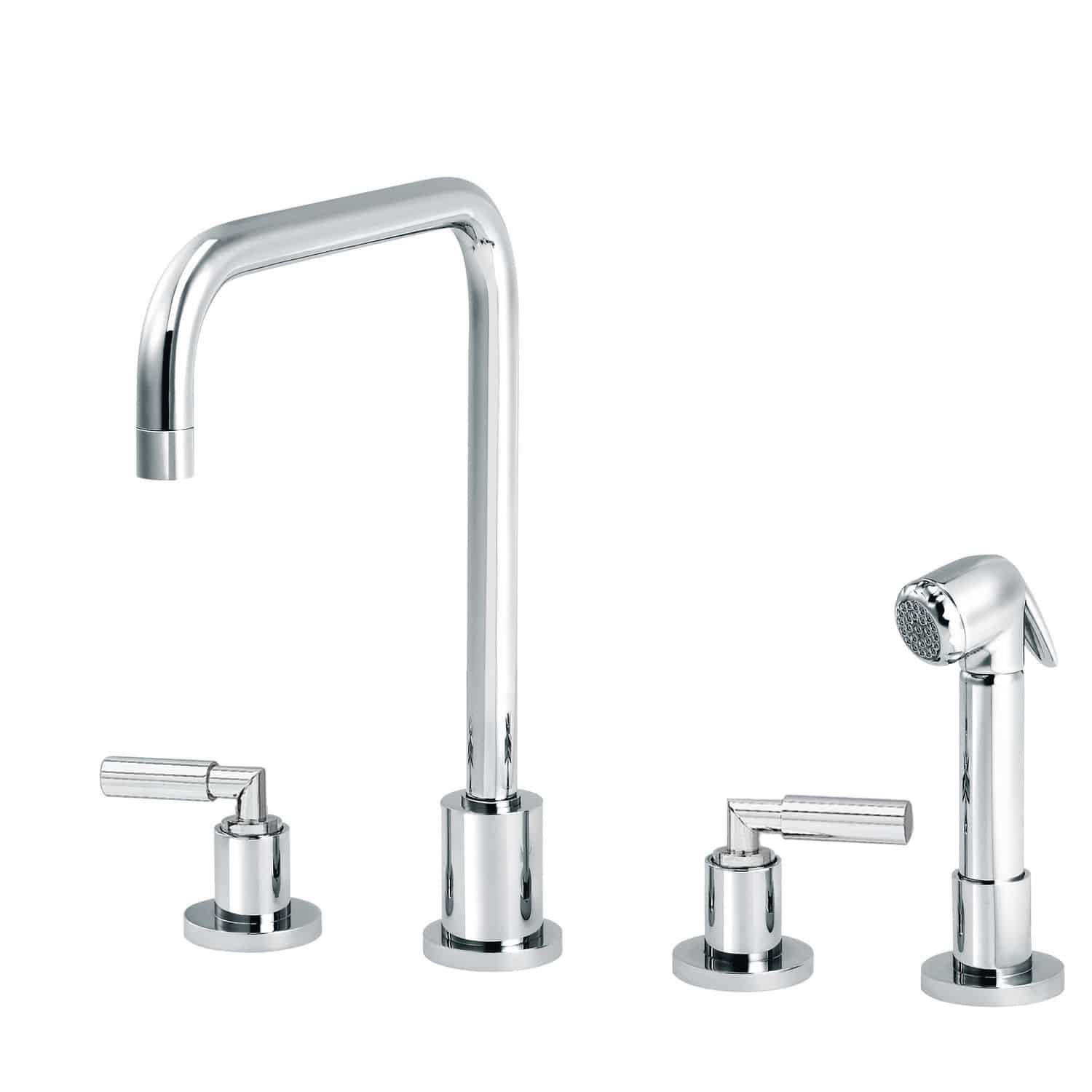 four hole kitchen faucets pictures of designs 独立式双把混合龙头 en metal chrome 厨房 4孔 cliff 4091 11 29 rvb
