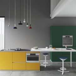 Kitchen Counters Pantries For 厨房柜台 En Bois Laque 金属 直线型 Compact Estel