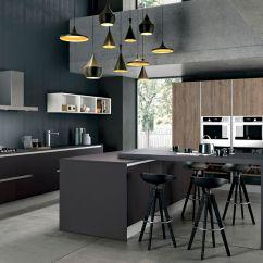 Kitchen Island With Range 2 Handle Faucet 现代风格厨房 En Stratifie 岛台式 烤漆 Tau Composition 01
