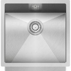 Square Kitchen Sink Island Top 单槽厨房水槽 不锈钢 方形 Enna Enn 100x Aquasanita
