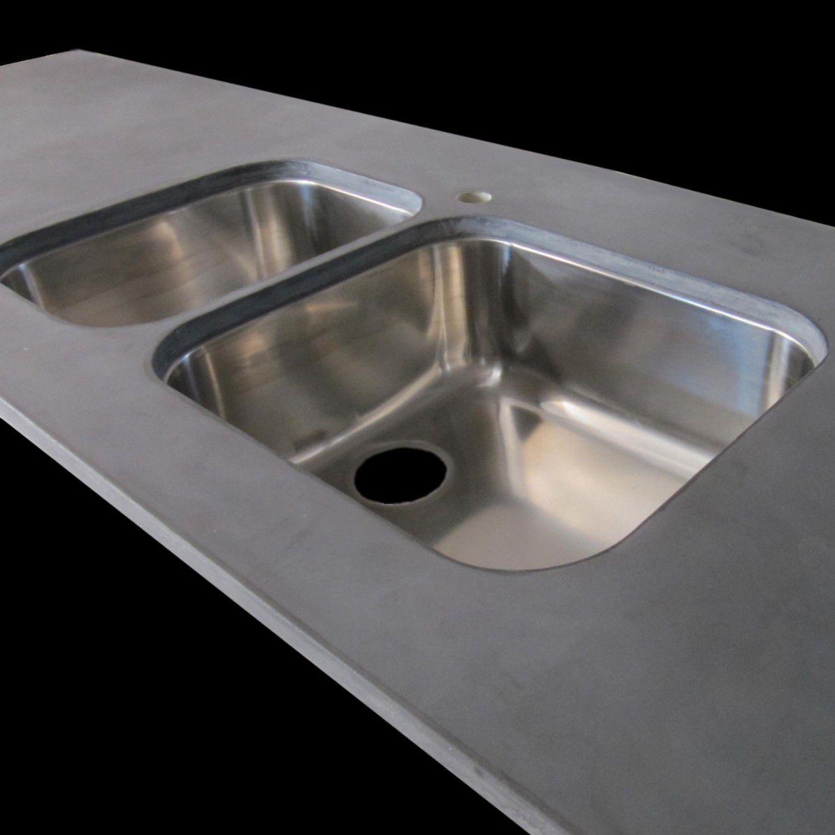 kitchen sink rack update cabinets 双槽厨房水槽 不锈钢 带有沥水架 balian beton atelier