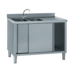 Commercial Kitchen Sink Pull Down Cabinets For The Disabled 不锈钢厨房水槽柜 猫脚 商用厨房 806 794 Tournus
