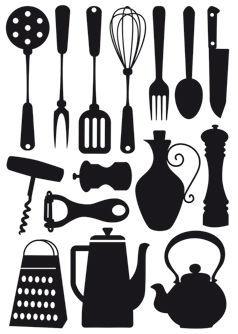 kitchen vinyl price of cabinets 厨房主题墙贴 乙烯基 ustensiles aquilia declik