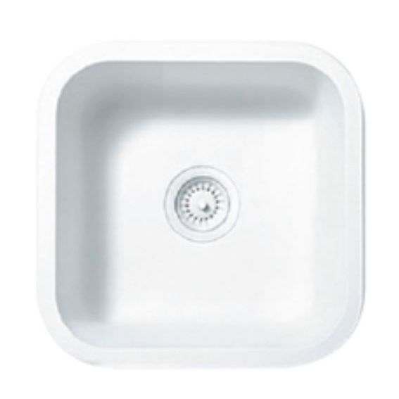 square kitchen sink eat at island 单槽厨房水槽 solid surface 方形 商用 a1181 staron