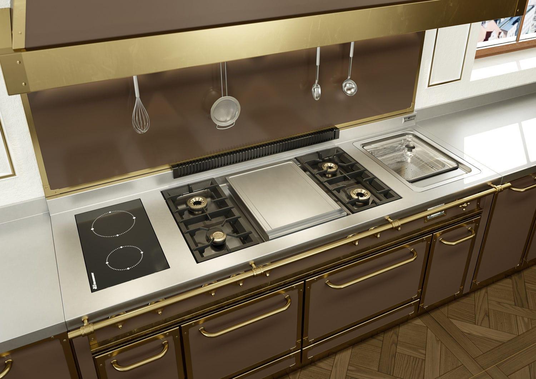 metal kitchen island how much to remodel a 现代风格厨房 金属 岛台式 u 形 serie professional villa demanincor