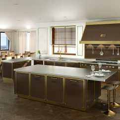 Metal Kitchen Island Affordable Remodel 现代风格厨房 金属 岛台式 U 形 Serie Professional Villa Demanincor