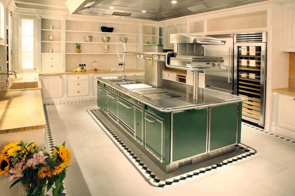 metal kitchen island replacing sink 现代风格厨房 金属 岛台式 avec poignees gu3015 serie grand chef isola