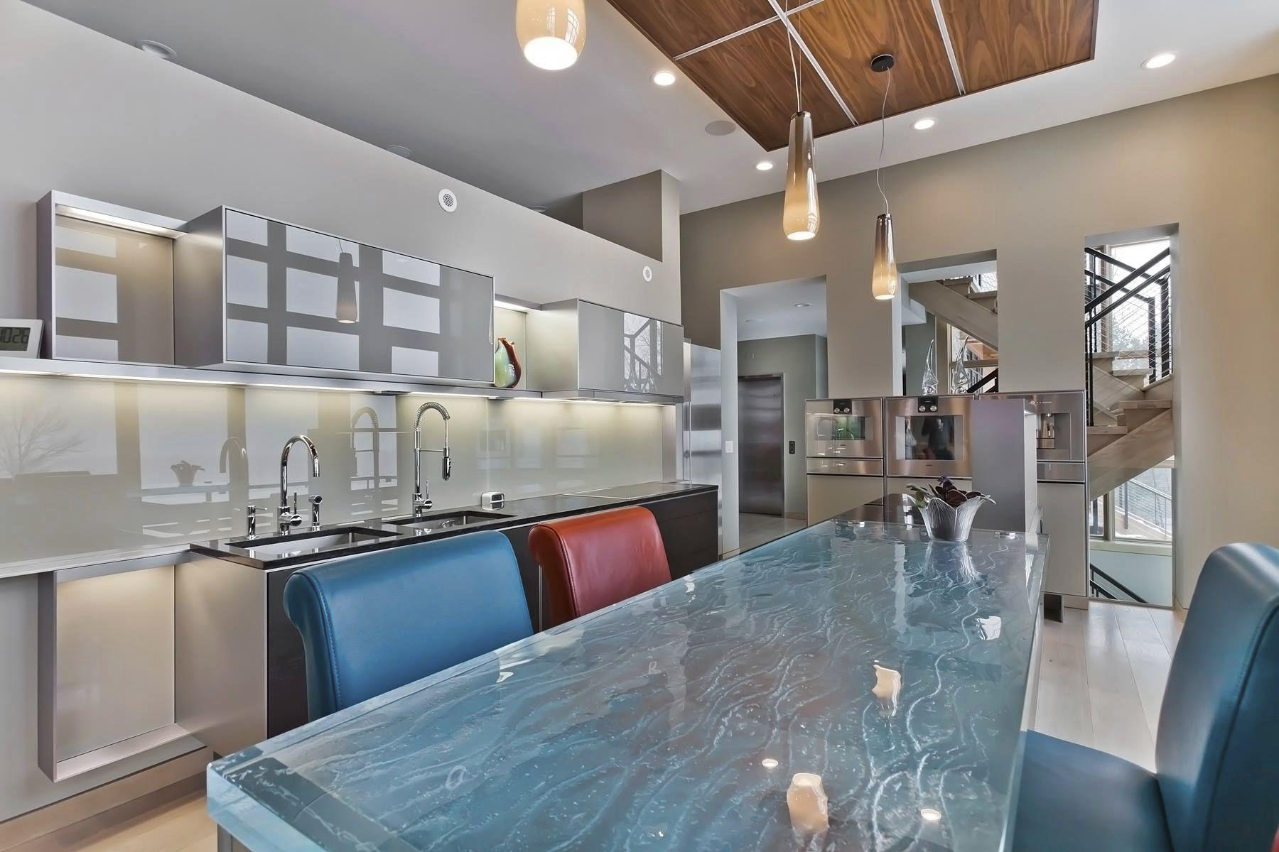 kitchen counters southwest decor 厨房柜台 玻璃 直线型 l 形 thinkglass