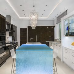 Kitchen Counter Options Stools Ikea 厨房柜台 玻璃 直线型 发光 Thinkglass