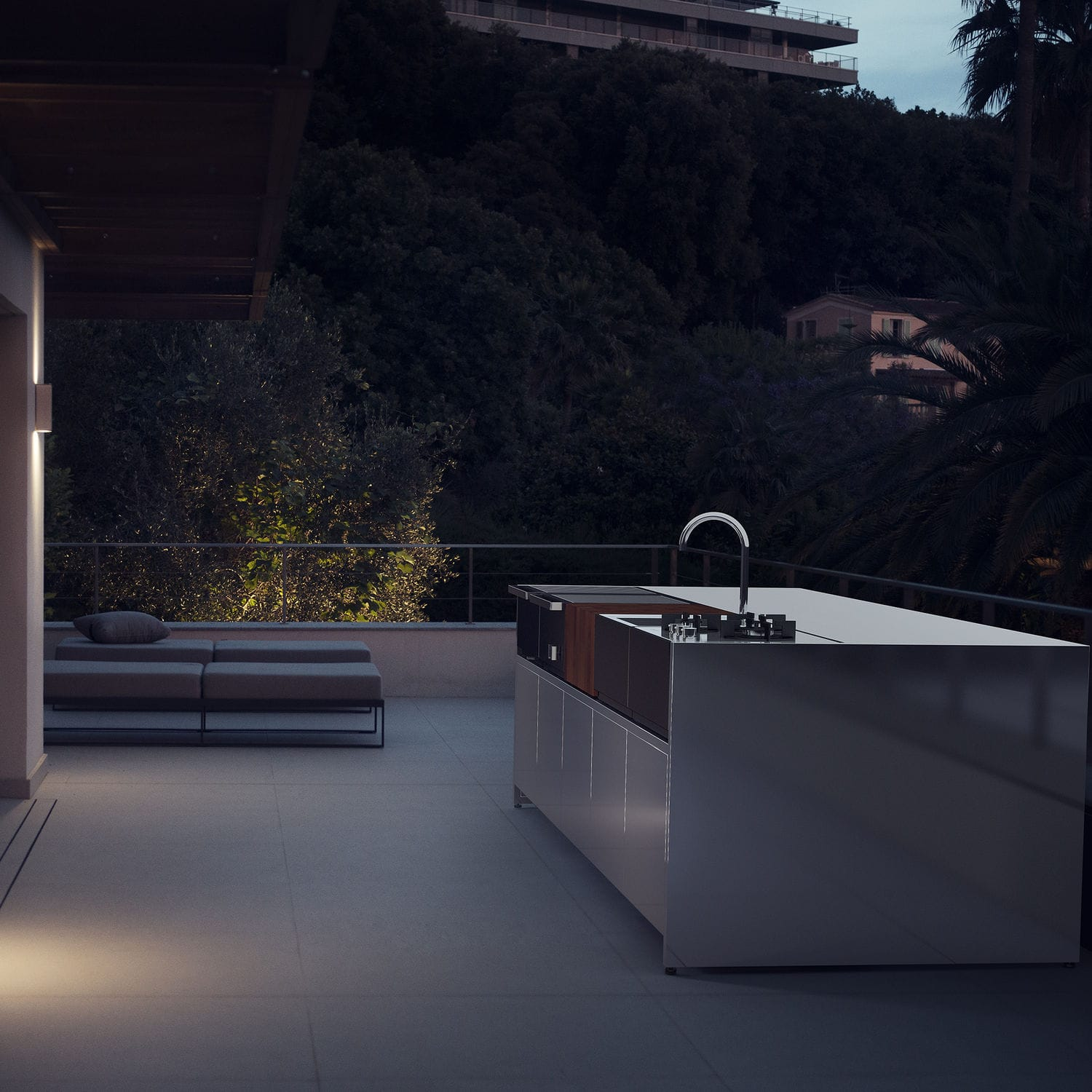 modular outdoor kitchen cabinets from china 现代风格厨房 不锈钢 岛台式 模块化 2 8 modules by broberg ridderstrale