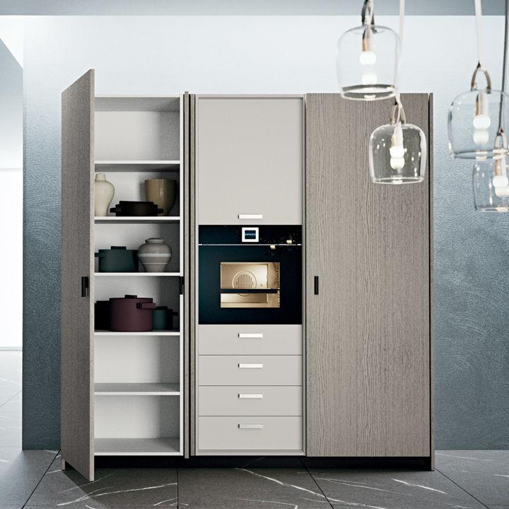kitchen aid cabinets home depot flooring 现代风格厨房收纳柜 木质 fold away doors dibiesse