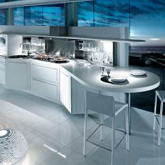 Kitchen Laminate Moveable Islands 层压板厨房台面 厨房 Shped Units Dibiesse