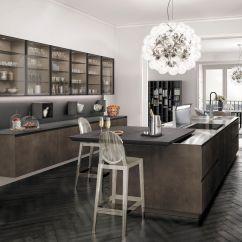 Metal Kitchen Island Decor Themes 现代风格厨房 木质 金属 岛台式 Antis Fusion Euromobil Spa 视频