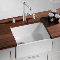 Ceramic Kitchen Sink Antique White Cabinets 单槽厨房水槽 陶瓷 深 Belfast Blanco Gmbh Co Kg