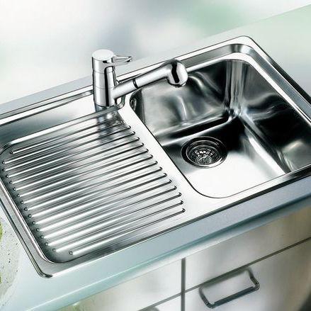 kitchen sink rack outdoor island kits 单槽厨房水槽 不锈钢 带有沥水架 classic 4 s blanco gmbh co kg
