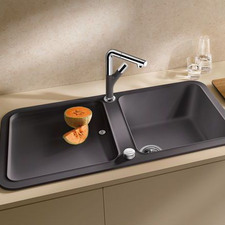kitchen sink materials remodel software 单槽厨房水槽 复合材料 带有沥水架 yova xl 6 s blanco gmbh co kg