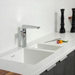 Kitchen Sink Materials Backsplash In 双槽厨房水槽 复合材料 带有沥水架 Acrylate Desk Form A S