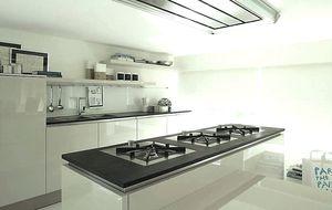 slate kitchen faucet aid tv offer 板岩厨房产品信息 经销网络 建筑和设计产品制造商 archiexpo 视频 现代风格厨房 板岩 磨砂 无把手