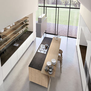 slate kitchen faucet cost to remodel small 板岩厨房产品信息 经销网络 建筑和设计产品制造商 archiexpo 视频 现代风格厨房 板岩 不锈钢 钢