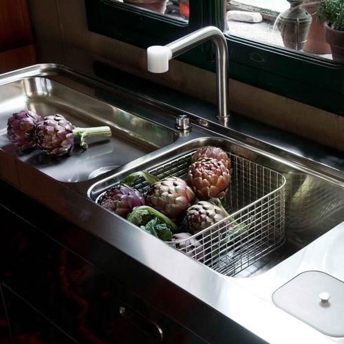 kitchen faucet spout swedish knives 不锈钢调温龙头 厨房 双孔 手持式 2 alpes inox